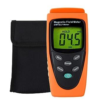 EMF ELF Magnetic Field Meter Electromagnetic Detector Micro-Tesla