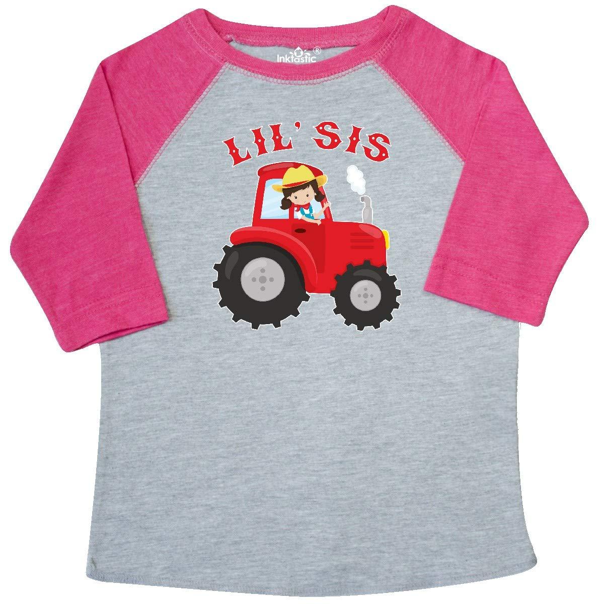 inktastic Farmer Tractor Little Sis Toddler T-Shirt