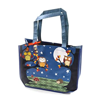 Amazon.com: Night Owls – Woven Shopper Bag by Santoro: Home ...