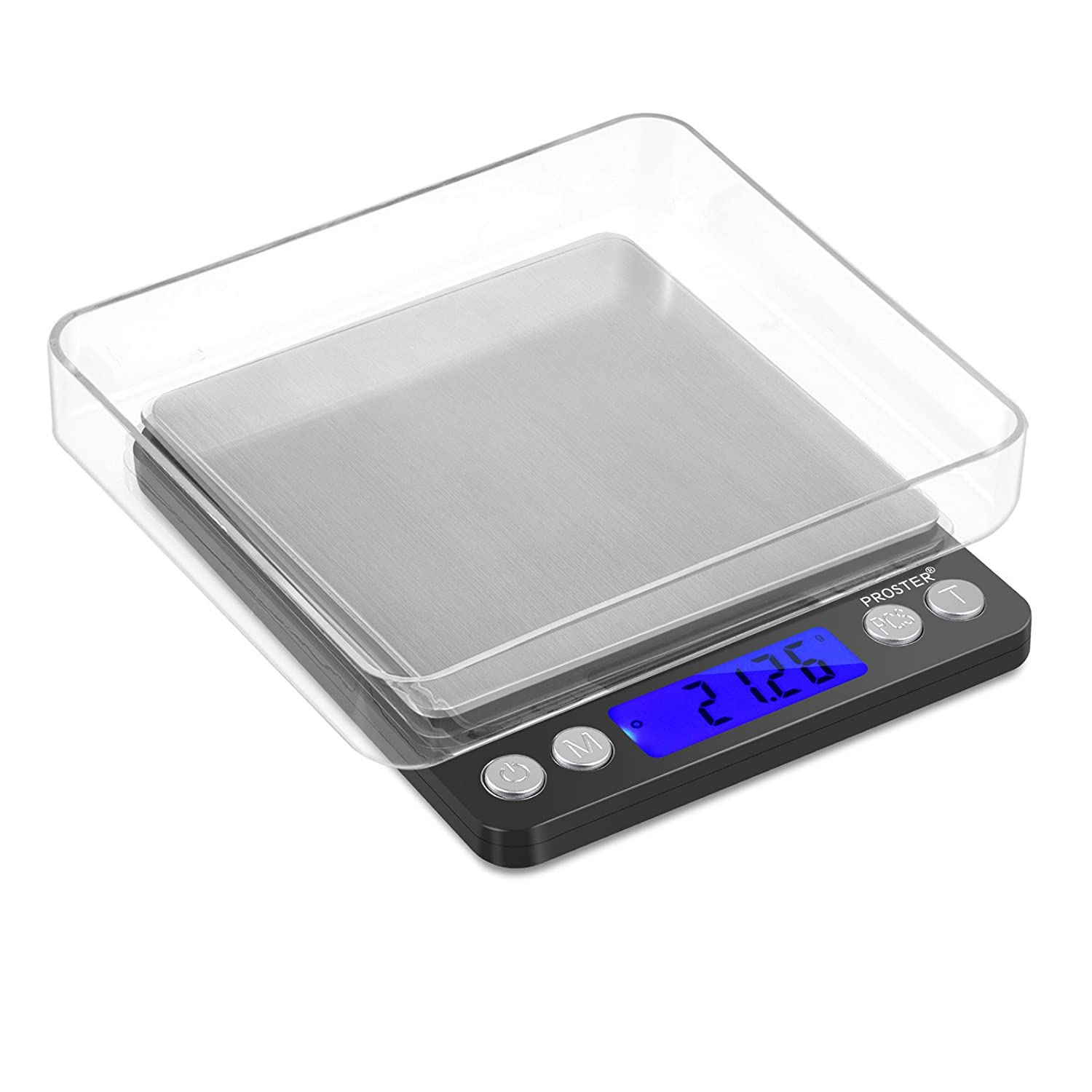 Proster digital food scale 500g 0 01g portable kitchen scale backlit lcd pocket stainless steel precision scale for cooking jewelry weighing durable scale 2