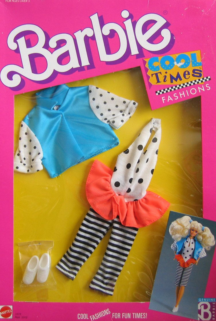Barbie Cool Times Fashions - Cool Fashions For Fun Times (1988) by Mattel