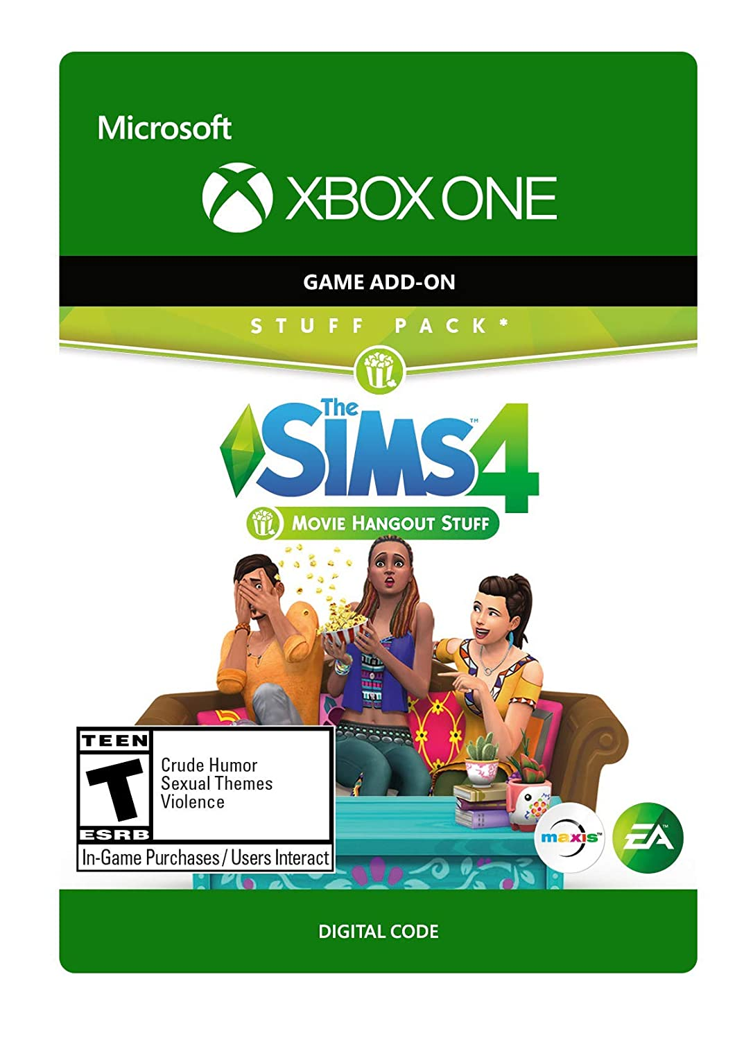 The Sims 4: Movie Hangout Stuff - Xbox One [Digital Code]