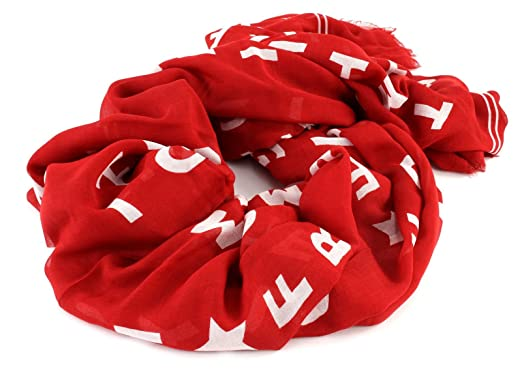 TOMMY HILFIGER Logo Story Scarf Tommy Red  Amazon.fr  Chaussures et Sacs 2e8a1b6bea1