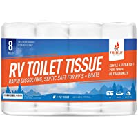 Firebelly Outfitters RV Toilet Paper, Septic Tank Safe - 8 Rolls, 2-Ply 500 Sheets - Fast… photo