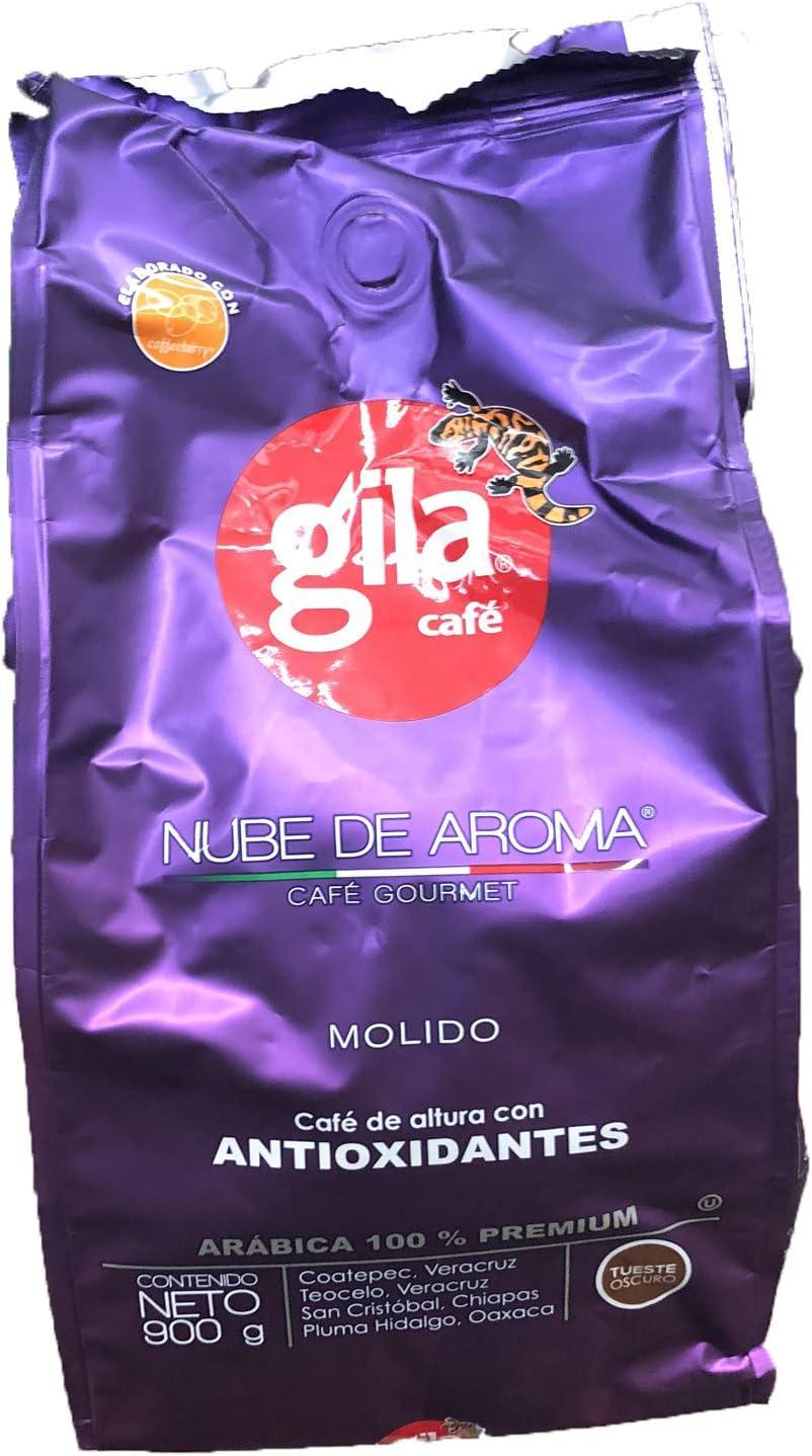 3 Pack Gila Cafe Nube De Aroma Cafe Gourmet Molido Cafe De Altura Con Antioxidantes Arabica 100 Premium 900 G Gila Cafe Presentacion Puede Variar Amazon Com Mx Alimentos Y Bebidas