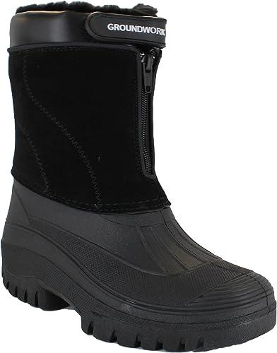 Groundwork LS88 - Botas impermeables para hombre, con cremallera, para jardín, establo o nieve: Amazon.es: Zapatos y complementos