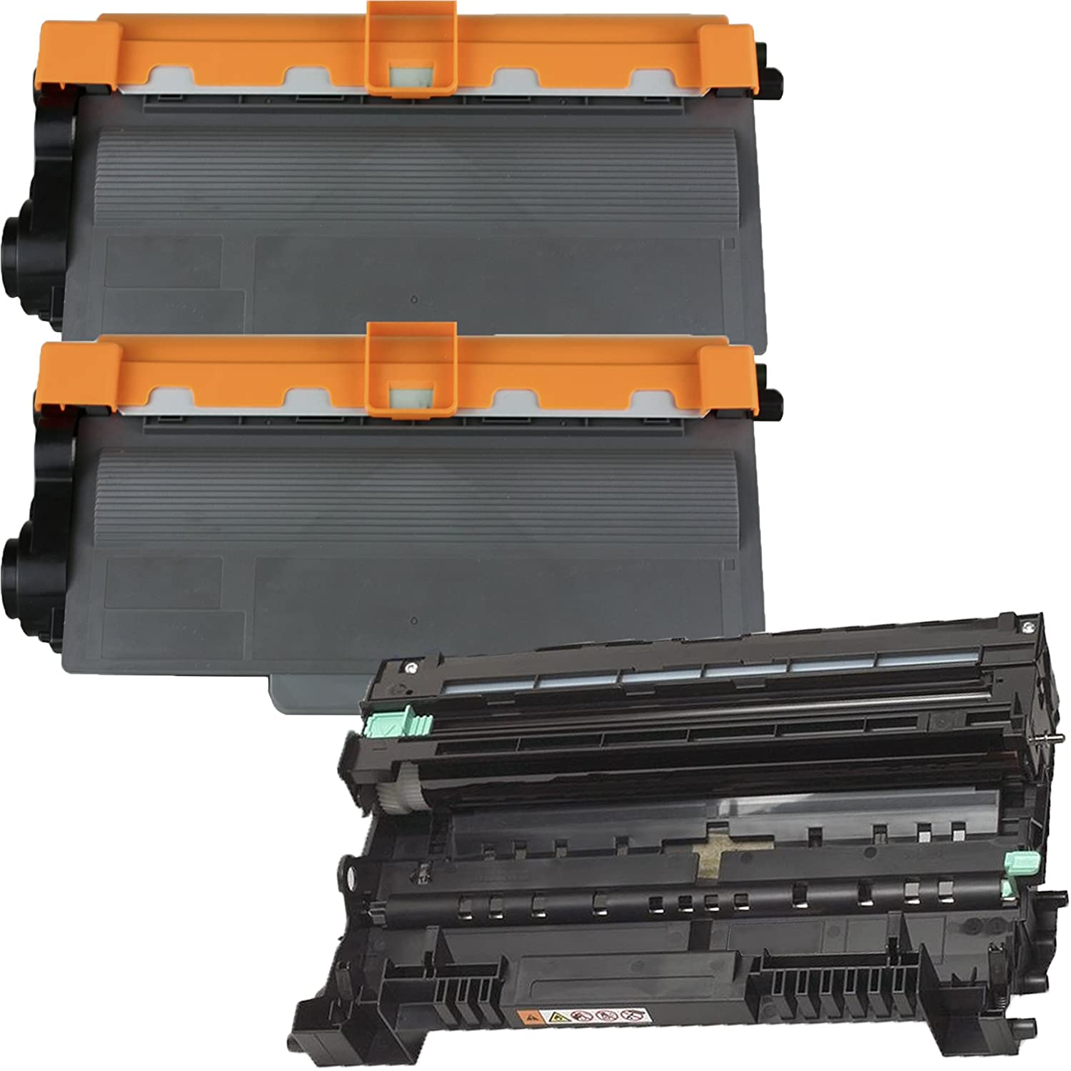 (1 Drum + 2 Toner) Inktoneram® Replacement toner cartridges & drum for Brother TN750 TN720 DR720 for Brother DR-720 TN-750 TN-720 Set MFC-8510DN MFC-8710DW MFC-8810DW MFC-8910DW MFC-8950DW MFC-8950DWT DCP-8110DN DCP-8