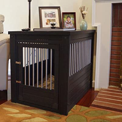 X Large Pet Crate Cage End Table Dog House Home Indoor Gate Living Room