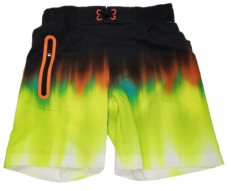 Wonder Nation Boys Acid Yellow Swim Shorts
