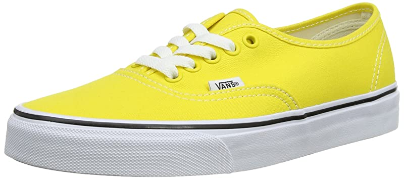 Vans Authentic Sneakers Damen Herren Unisex Erwachsene Gelb (Vibrant Yellow)