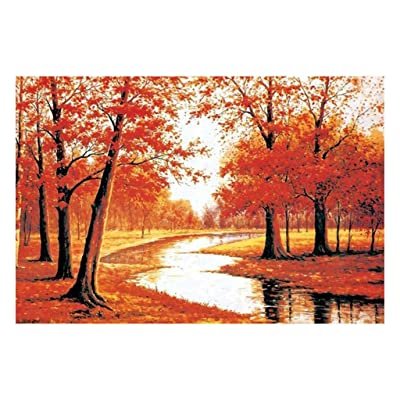 Gleders Jigsaw Puzzles 1000 Pieces for Adults and Kids Teens Puzzles Toy Educational Games Home Decoration 750×500mm Large Size - Maple Forest: Home & Kitchen