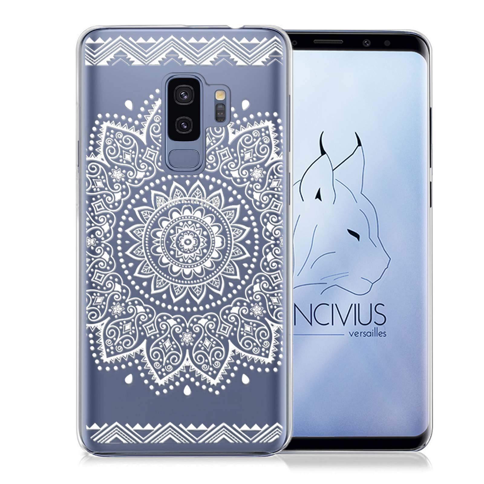 LINCIVIUS  Coques Samsung S9 PLUS [Lot 3 Coques] Housse Samsung Galaxy S9 PLUS Etui Transparent Silicone Design Mandala [Satisfait ou remboursé 30 Jours]
