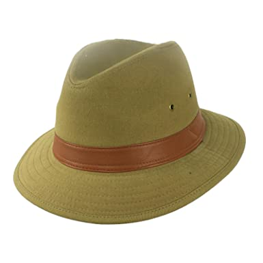 Amazon.com  SK Hat shop Men s Outback Canvas Cotton Safari Hunting ... 1e90edaa108