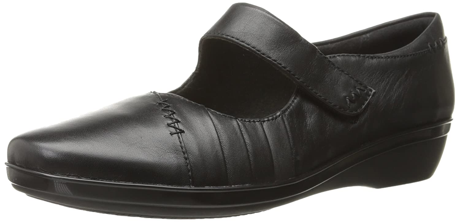 CLARKS Women's Everlay Daphne Mary Jane Flat B00TU6ENF8 6.5 B(M) US|Black Leather