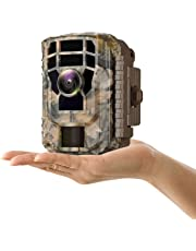 """Campark Small Trail Game Camera-12MP 1080P HD Wildlife Waterproof Scouting Hunting Camera with 120° Wide Angle Lens and Night Vision 2"""" LCD IR LEDs"""