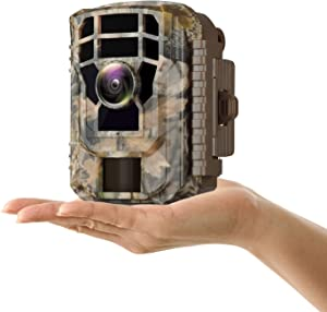 "Campark Small Trail Game Camera-12MP 1080P HD Wildlife Waterproof Scouting Hunting Camera with 120° Wide Angle Lens and Night Vision 2"" LCD IR LEDs"