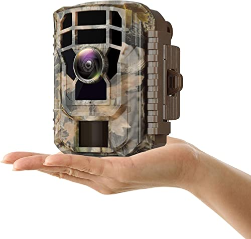 Campark Mini Wildlife Camera 1080P HD Trail Game Camera Waterproof Scouting Hunting Cam 12MP with 120 Wide Angle Lens and Night Vision 2.4 LCD IR LEDs
