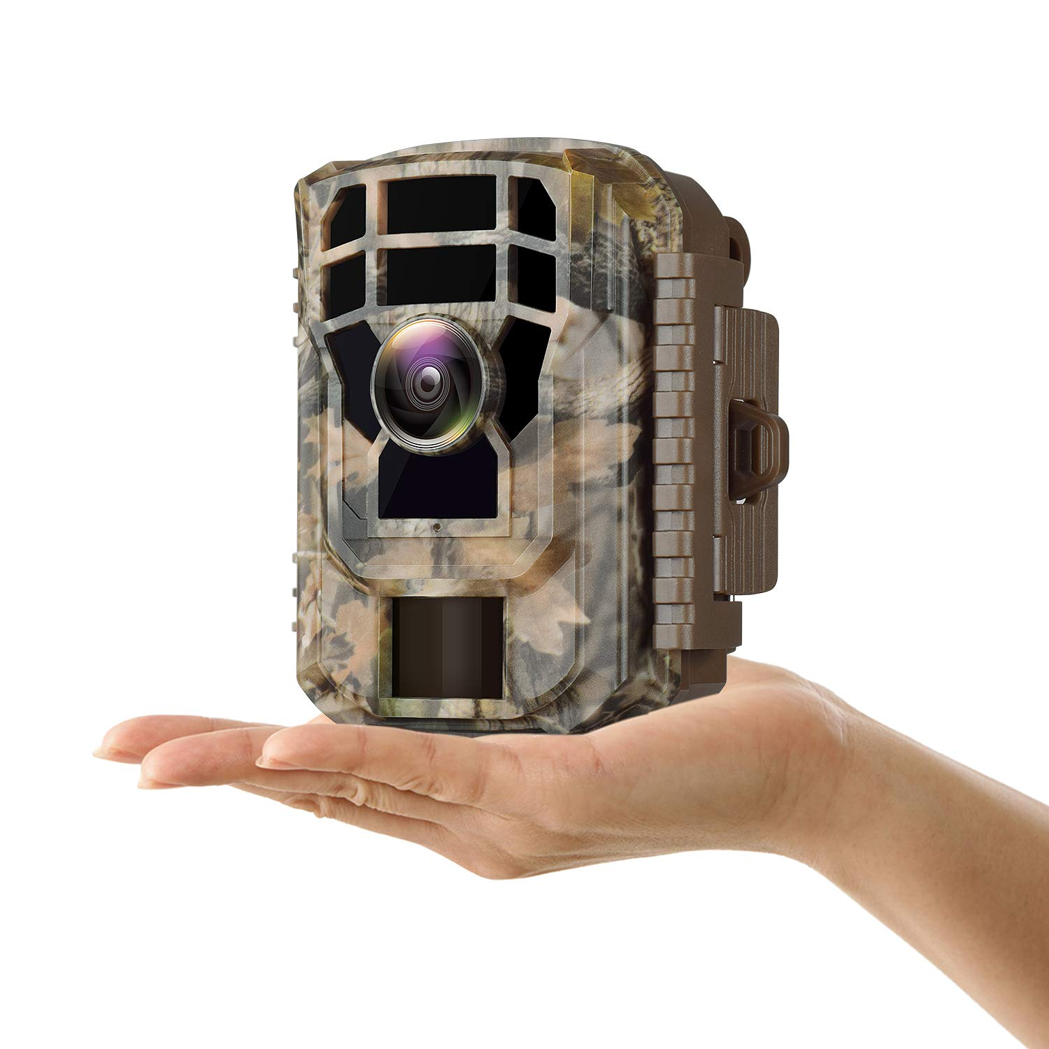 Campark Small Trail Game Camera-12MP 1080P HD Wildlife Waterproof Scouting Hunting Camera with 120° Wide Angle Lens and Night Vision 2.4'' LCD IR LEDs