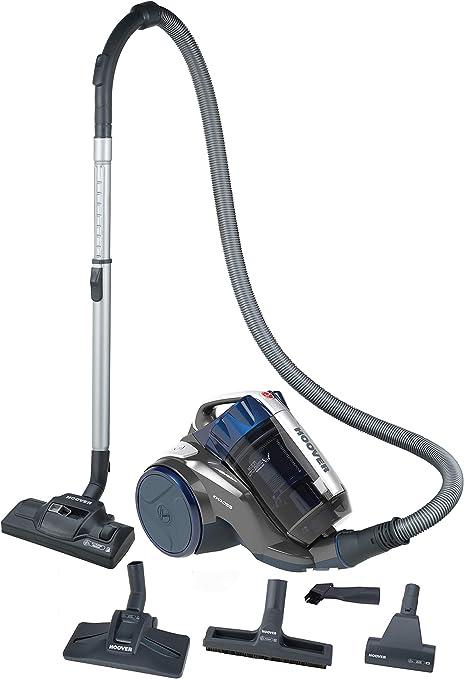 Hoover Khross KS51PET - Aspirador Trineo sin Bolsa, tecnología multiciclónica Especial para parqué y Animales, Titanio/Azul Metal, 550 W, 78 decibelios: Amazon.es: Hogar