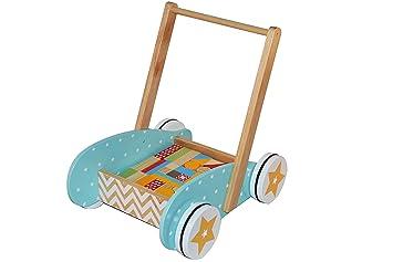 Betoys – 131992 – Mueble de Marcha + Juego de construcción en Madera – Pom de Madera – Colores