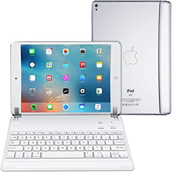 Arteck Ultra-Thin Bluetooth Keyboard with Folio Full Protection Case for Apple iPad 7 10.2-inch 2019 with 130 Degree Swivel Rotating iPad 10.2-inch Keyboard