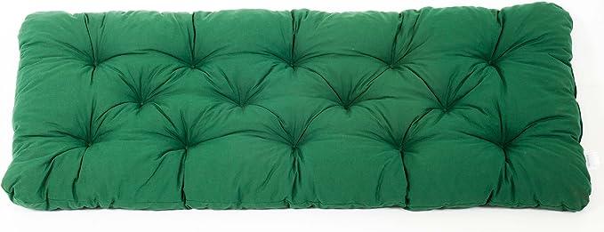colore verde Cuscino per panca da giardino da 2  sedi 120 cm