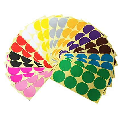 ljy round dot stickers color coding labels 12 different assorted