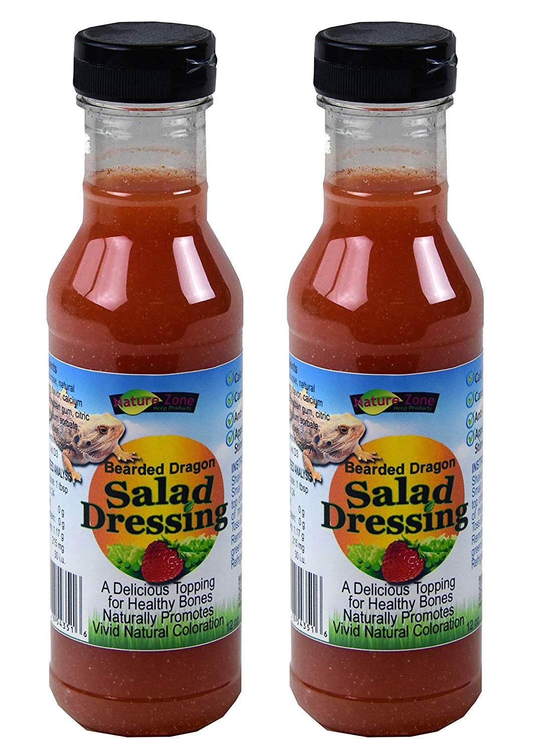 2 Pack Nature Zone Bearded Dragon Salad Dressing (24oz (2 Pack))