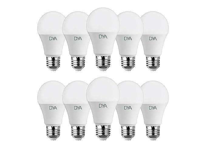 Juego de 10 bombillas LED con forma de gota, de 10 W, E27,