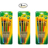Crayola Arts & Craft Brushes, Assorted 1 ea (Pack of 3)