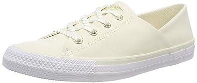 Converse Damen CTAS Coral OX Egret/White Slip on Sneaker, Beige (Egret/Egret/White 281), 36.5 EU