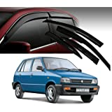 Auto Pearl - Premium Quality Car Rain Wind Door Visor Side Window Deflector For - Maruti Suzuki Maruti 800 - Set Of 4 Pcs