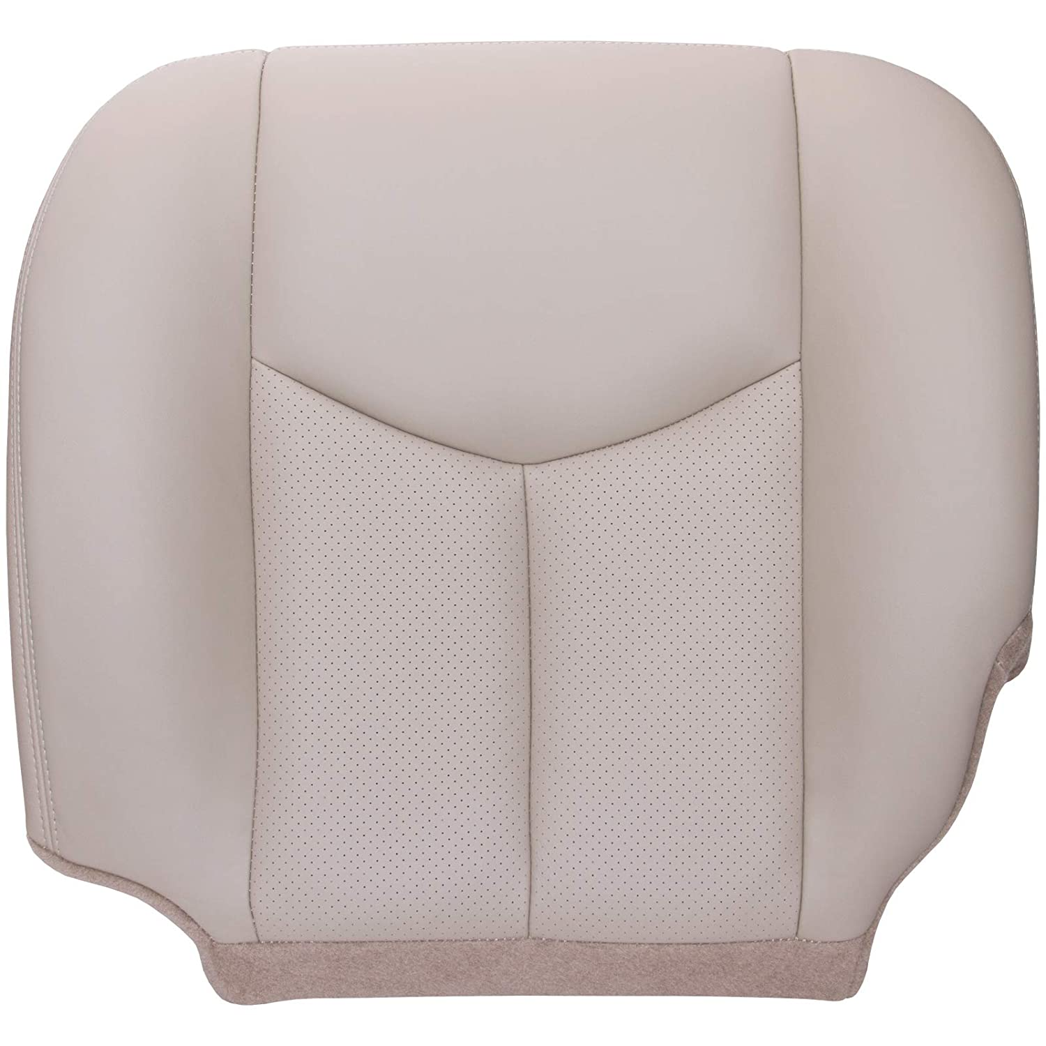 Compatible with 2003-2006 Cadillac Escalade Shale Tan The Seat Shop Driver Bottom Replacement Perforated Leather Seat Cover