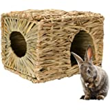 Mkono Natural Seagrass Mat Bed Hideaway Toy, Hand Woven for Rabbit Guinea pig Chinchilla Ferret