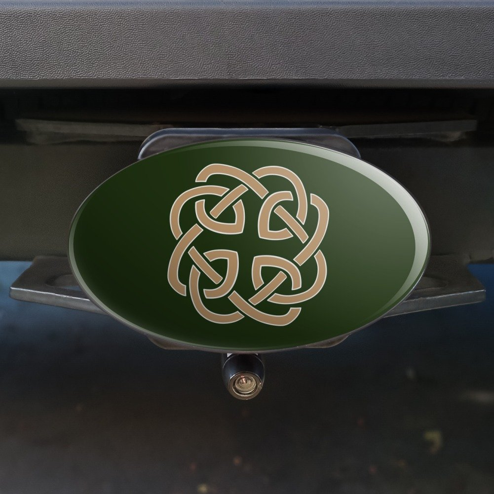 Celtic Knot Love Eternity Oval Tow Hitch Cover Trailer Plug Insert 2 Graphics and More