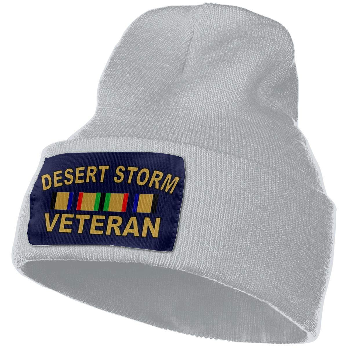 DFKD JKFD Unisex 3D Knitted Hat Skull Hat Beanie Cap Desert Storm Veteran