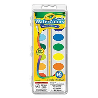 Crayola Washable Watercolors16 Colors: Toys & Games
