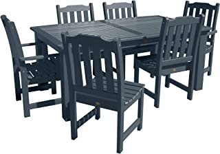 """product image for highwood AD-ST7LH1CO5AA-FBE Lehigh 7pc Rectangular Dining Set 84"""" x 42"""", Federal Blue"""