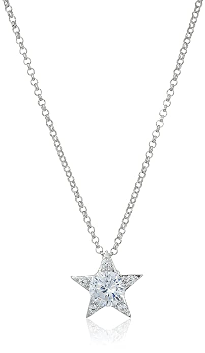 Amazon sterling silver cubic zirconia star pendant necklace 16 sterling silver cubic zirconia star pendant necklace 16quot aloadofball Gallery