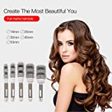 CkeyiN Round Hair Brush Blow Dry Drying Boar Bristle Large Round Barrel Ceramic Ionic Hairbrush 5 Different Size
