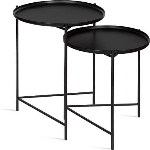 Kate and Laurel Ulani Round Metal Accent Tables