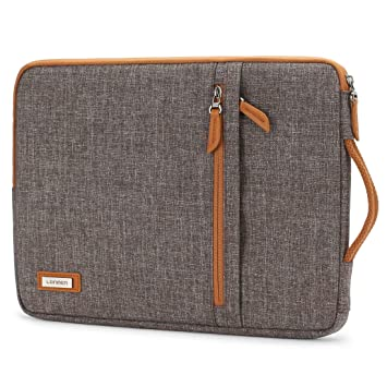 LONMEN 10.1 Inch Laptop Sleeve Canvas Waterproof Tablet Protective Carrying Case for 9.7