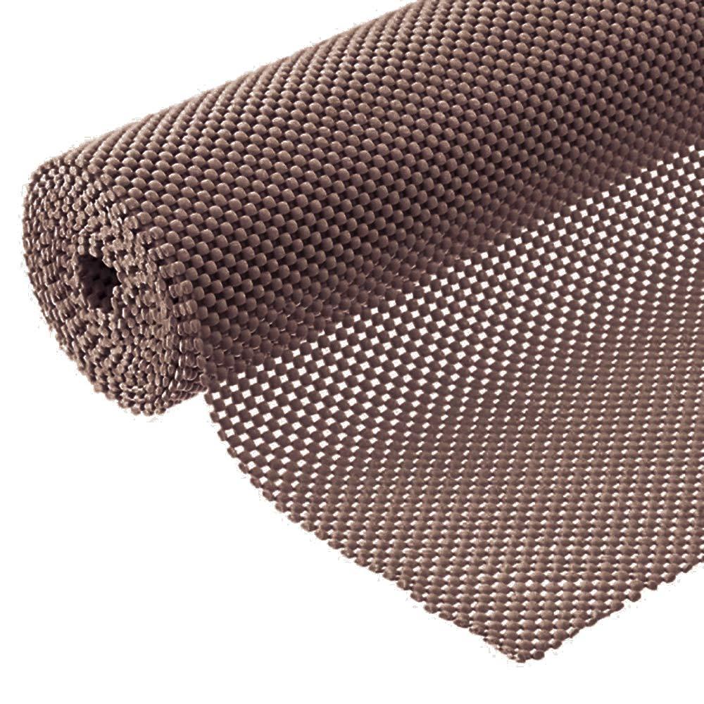 Grip Liner Non-Adhesive Shelf Liner, Anti-Slip Mat Drawer Liner 12 in. x 20 ft. (Brown)