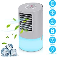 Halffle Multifunctional Mini Air Cooler USB Conditioner Home Portable Negative Ion Fan Evaporative Coolers