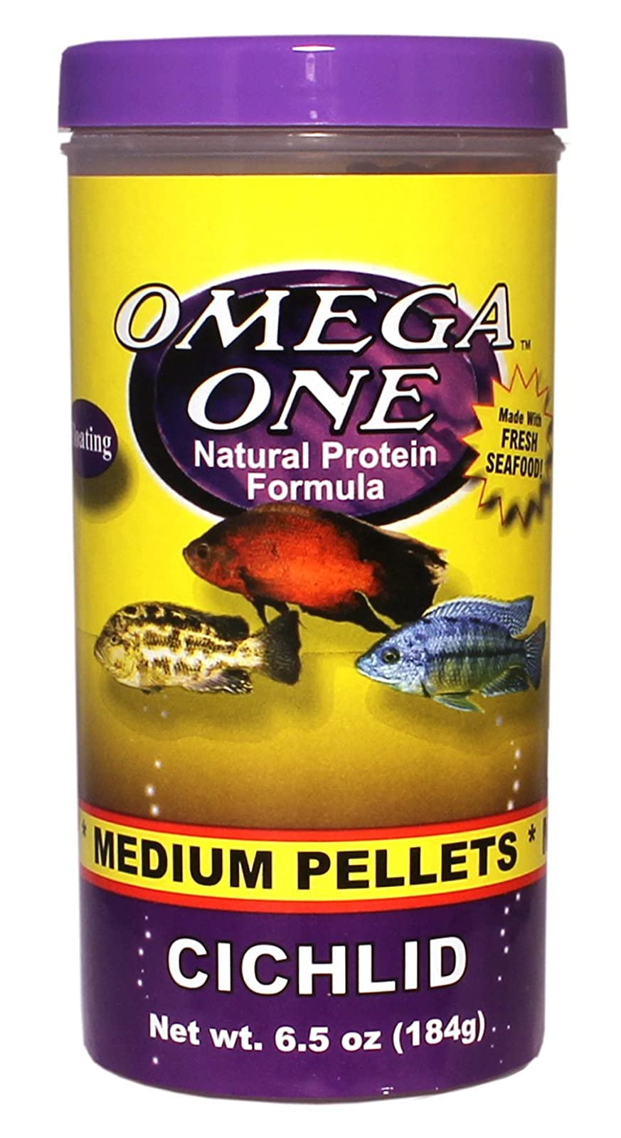 Omega One Cichlid Pellets - Medium Floating 6. 3431 - 1