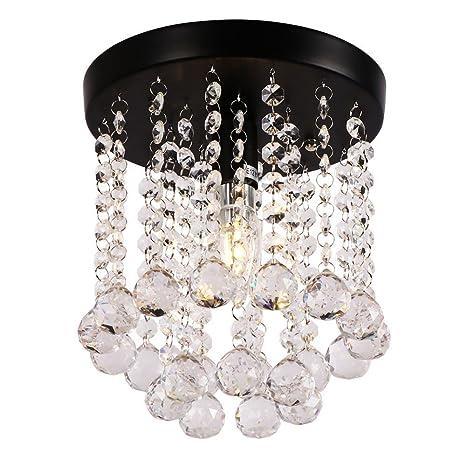 Merveilleux AncientHome Mini Iron Crystal Chandelier, Modern Vintage Flush Mount Ceiling  Lighting Fixture For Bedroom, Hallway, Bar, Kitchen, Bathroom, ...