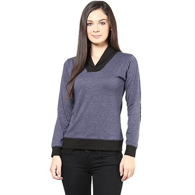 Hypernation Grey Melange Color T-Shirt for Women Tshirts at amazon