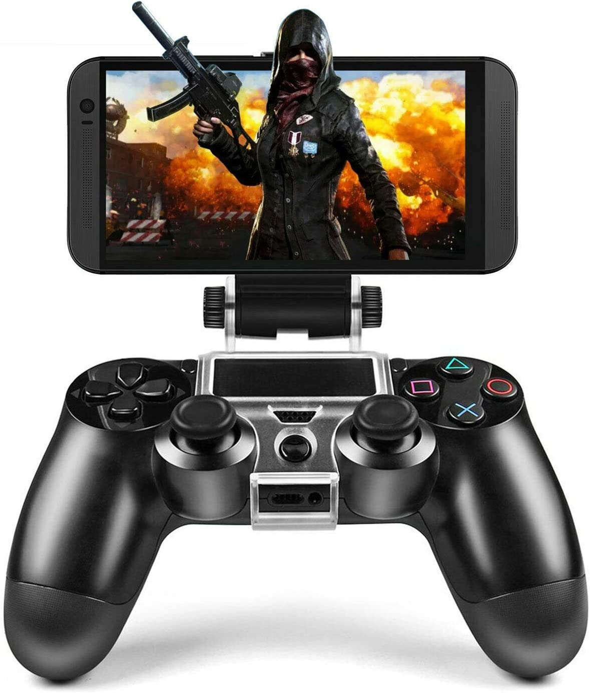 Black ZODRQ Wireless Bluetooth Receiver Mobile Gaming Controller Gamepad Joystick with Telescopic Holder for Android iOS PC Smart TV//TV Box
