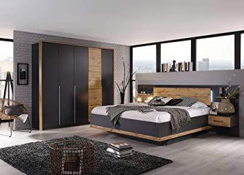 lifestyle4living Schlafzimmer Komplett Set in grau, 4-teilig ...