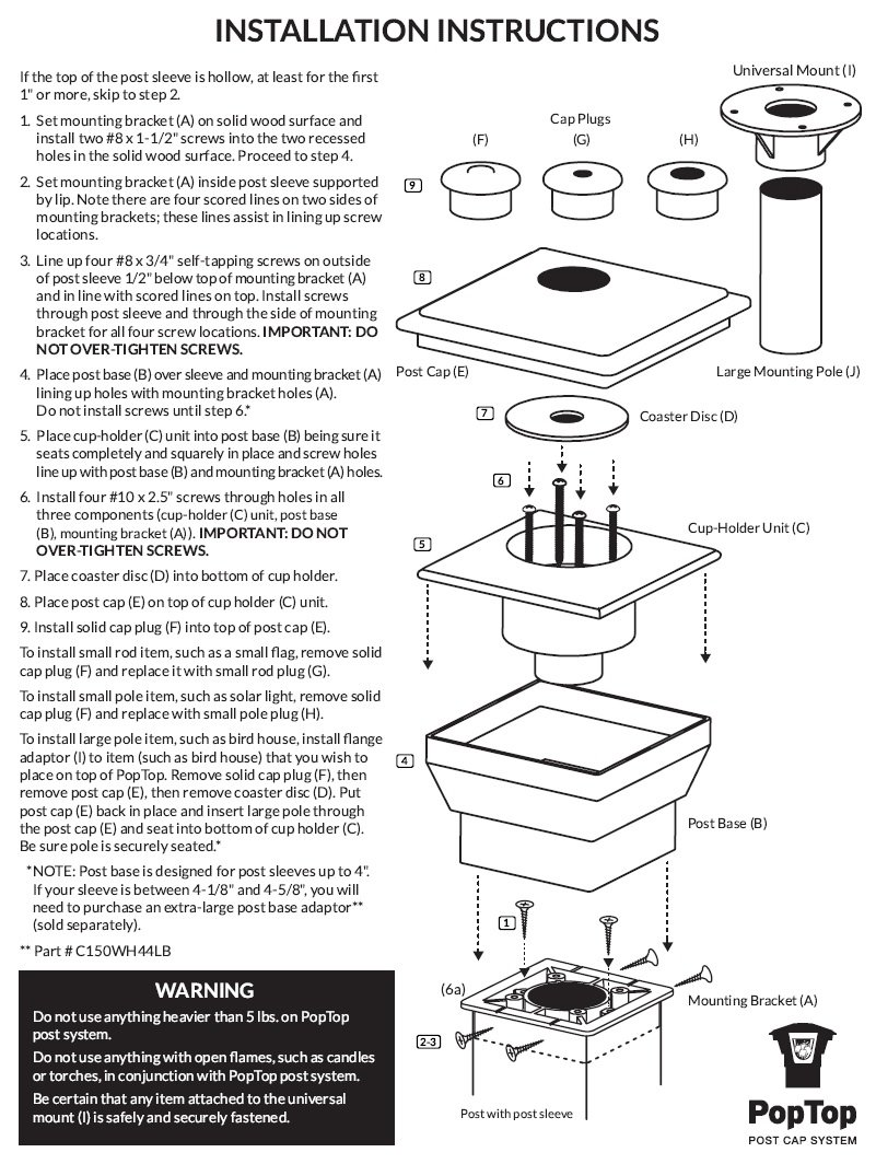 Deck rail post cap system — the affordable way to upgrade your deck's looks and functionality. Made in the USA.